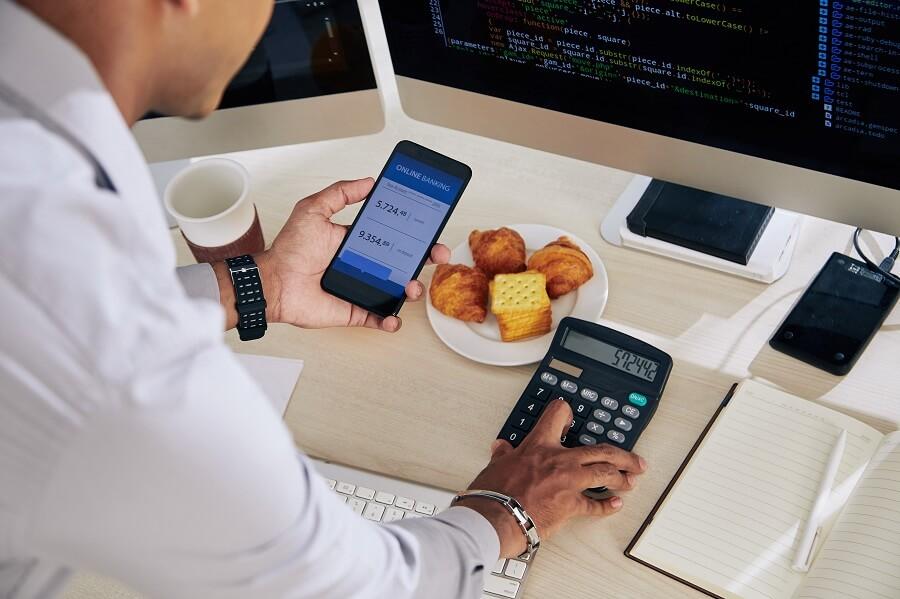 Regular checking of bank accounts
